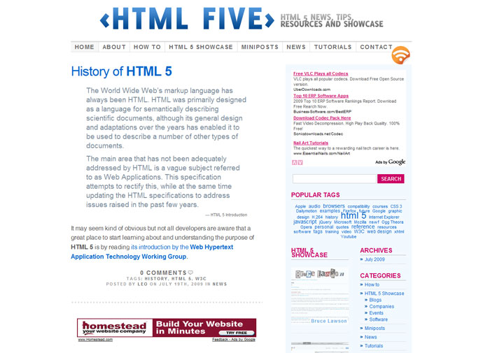 HTML Five