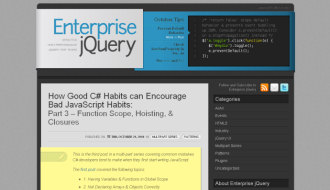 Enterprise jQuery